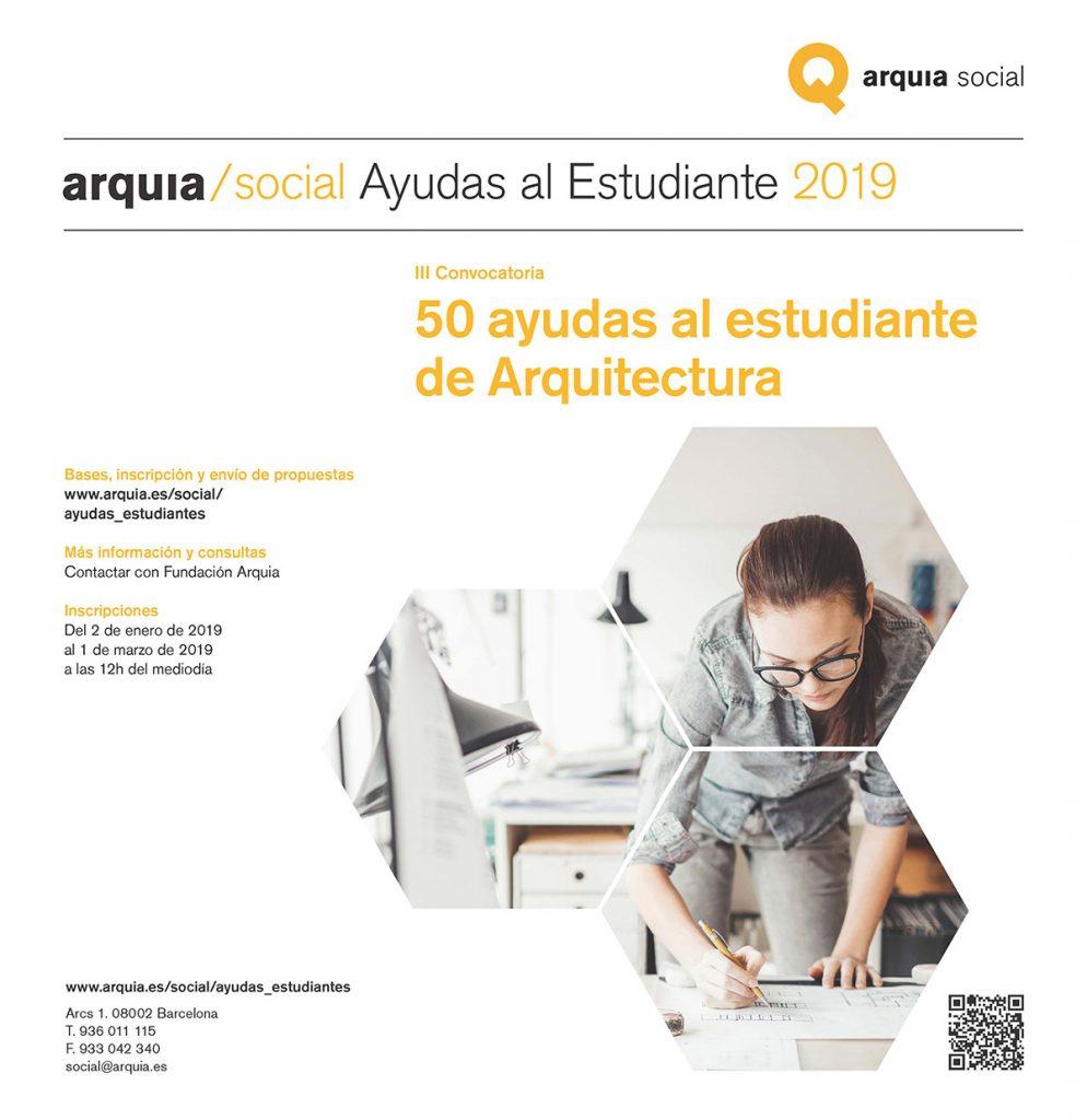 III Convocatoria de ayudas al Estudiante de Arquitectura Arquia Social