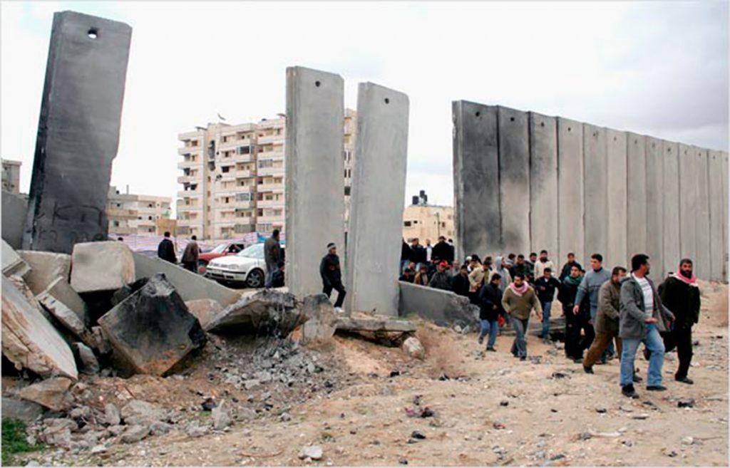 Frontera de Rafah, espacio controlado por el ejército israelí entre Egipto y Palestina.