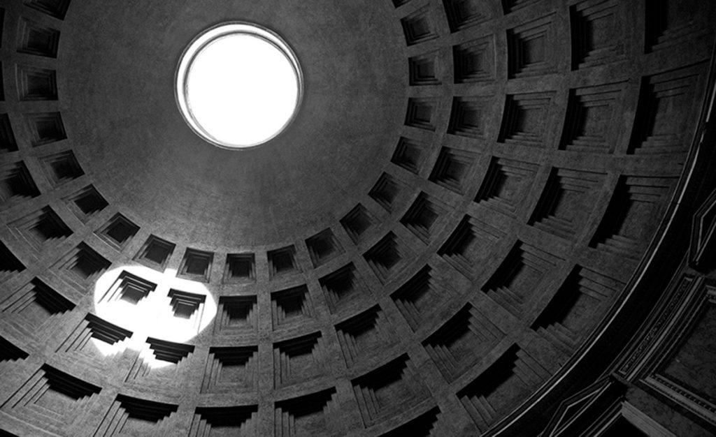 Óculo del Panteón en Roma