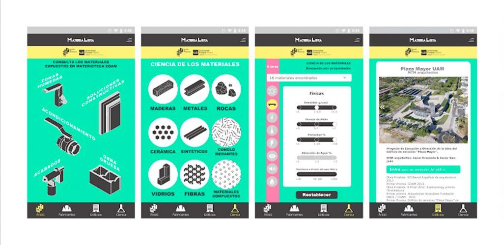 Materialista, nueva app de MATCOAM o2