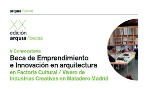 V Entrepreneurship and innovation in architecture scholarship 2019