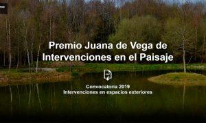 Premio Juana de Vega de Intervenciones en el Paisaje 2019