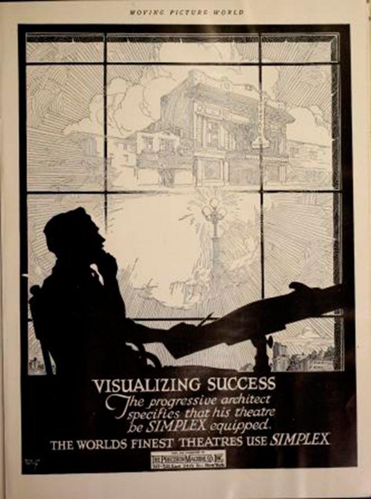 Moving Picture World, nov 1920, Anuncio arquitecto