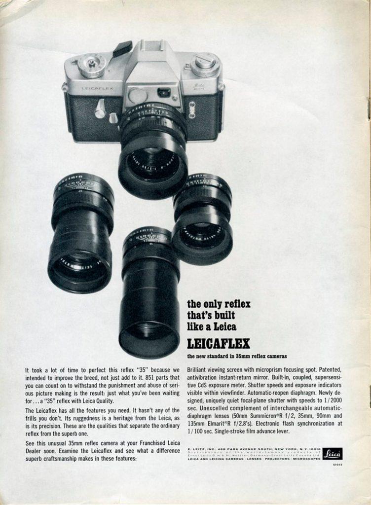 Publicidad de Leicaflex, 1965. Por Nesster