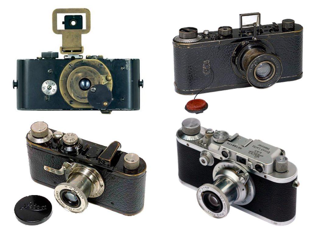 Ur-Leica, 1914 | Leica 0, 1923. Producción de 31 unidades Leica I, 1925 | Leica IIIa, 1935
