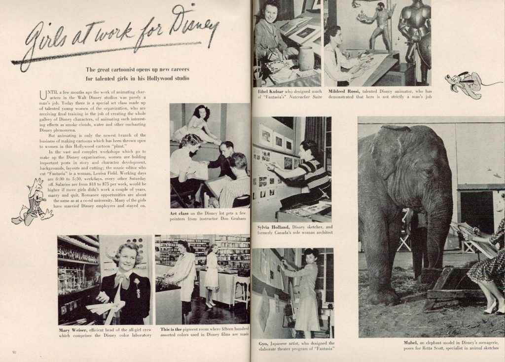 Girls at work for disney, 1941 | Fuente: cartoonbrew.com