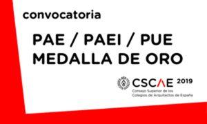 CSCAE convoca los premios Arquitectura Española, Arquitectura Española Internacional, Urbanismo y la Medalla de Oro de la Arquitectura