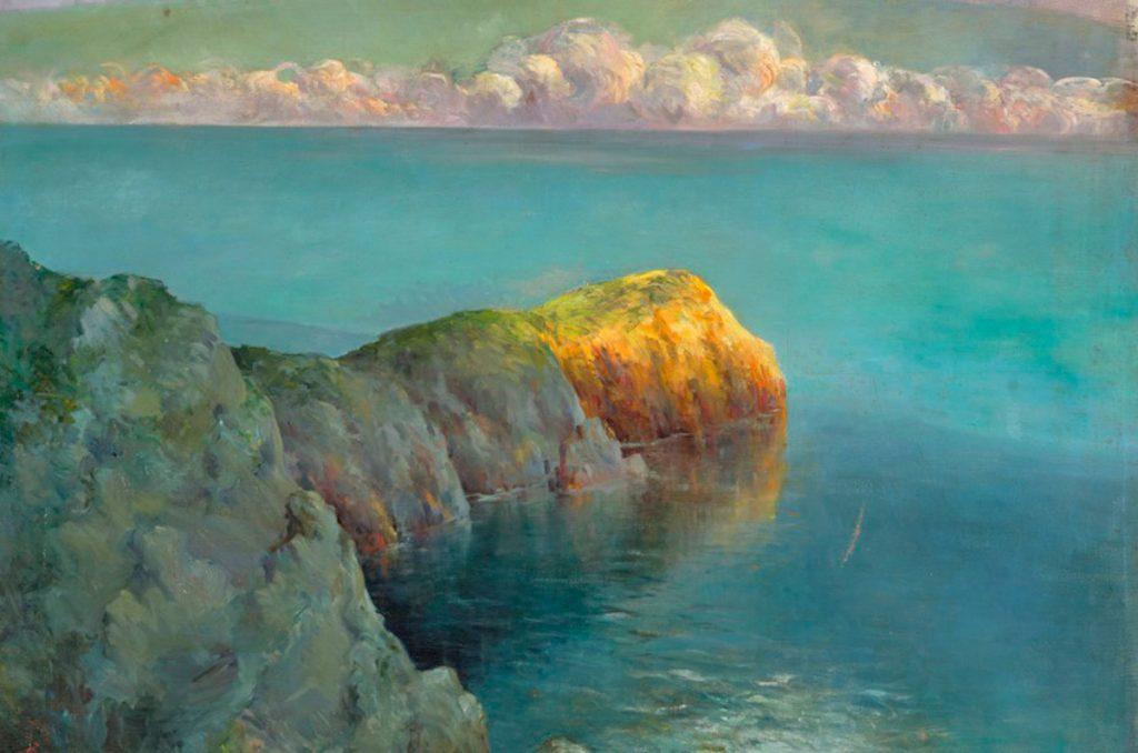 Juan Manuel Botas Ghirlanda. Golfo de Capri, öleo sobre lienzo 128 x 126 cm. Museo Municipal de Bellas Artes, Santa Cruz de Tenerife