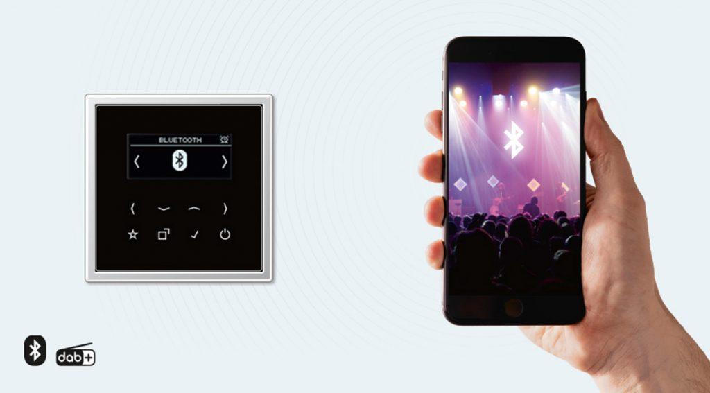 La nueva Smart Radio DAB+ de Jung aporta el mejor sonido digital y conexión inalámbrica vía Bluetooth
