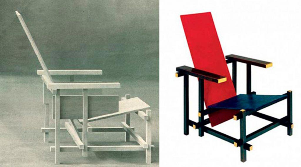 Silla roja y azul. Gerrit T. Rietveld Borja López Cotelo Silla roja y azul