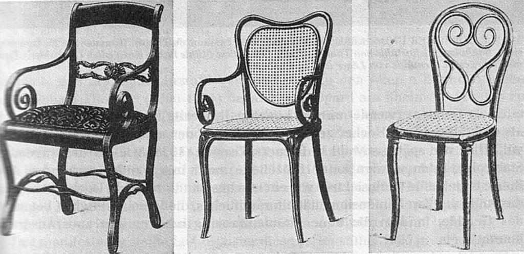 Modelos de sillas de Thonet | Fuente: Bodoklecksel