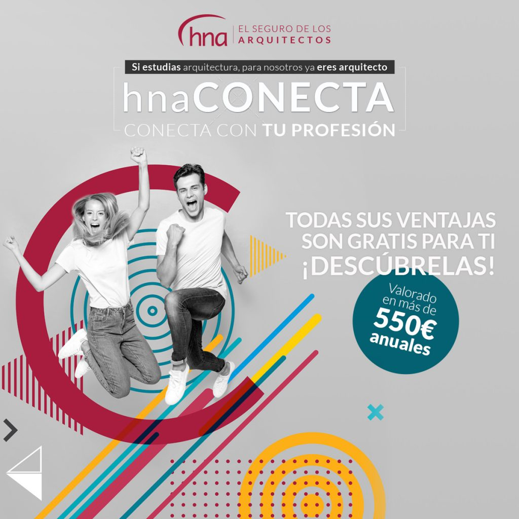 Ventajas exclusivas para estudiantes de arquitectura, con hnaCONECTA de la Mutualidad de los Arquitectos