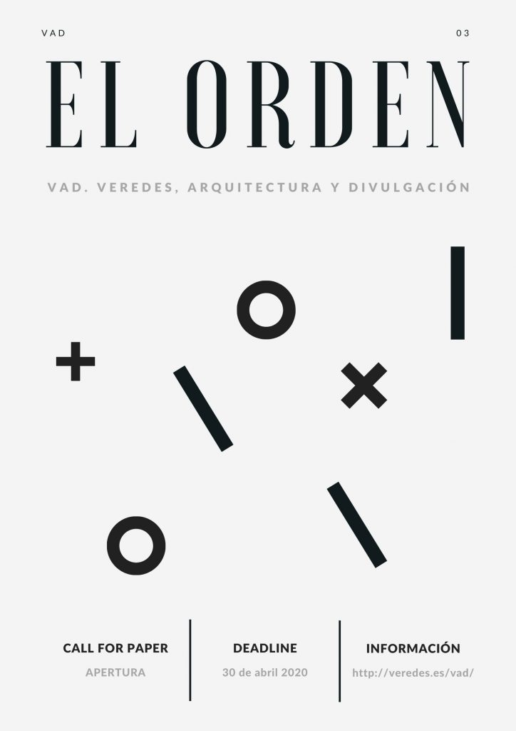 Call for Papers. VAD 03. El Orden