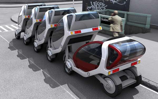 Prototipo de coche eléctrico desarrollado por el Grupo inteligente del MIT.