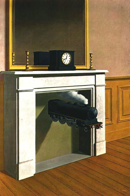 La durée poignardée, René Magritte