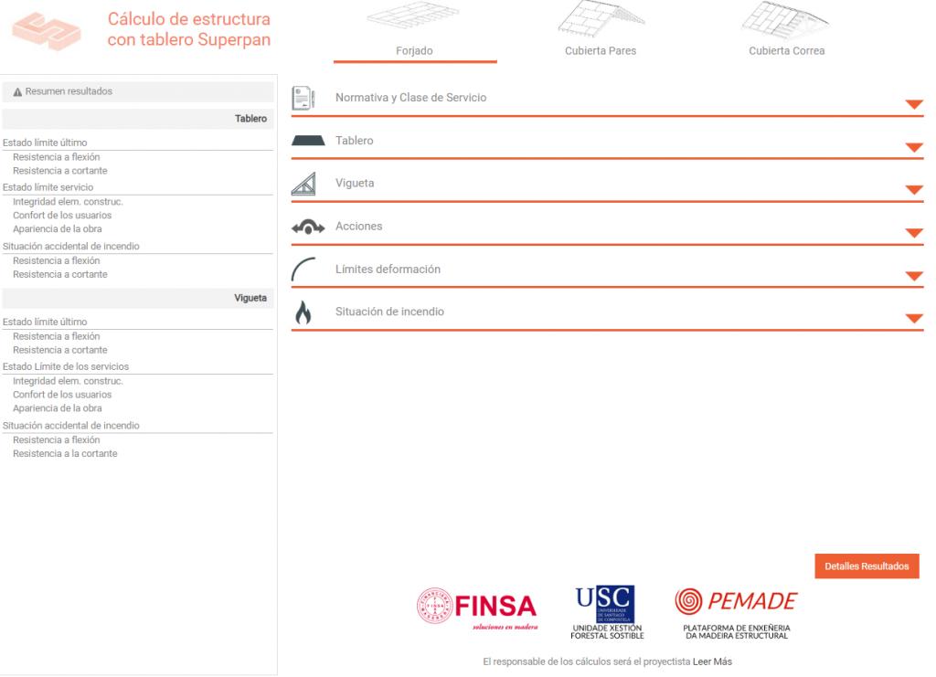 Nueva aplicación de cálculo de estructuras de madera de Finsa 1