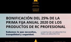 Bonificación del 25% de la prima fija anual 2020 de los productos de RC Profesional de ASEMAS