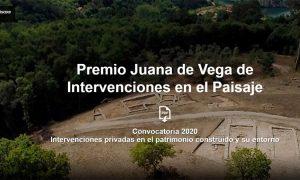 Premio Juana de Vega de Intervenciones en el Paisaje 2020