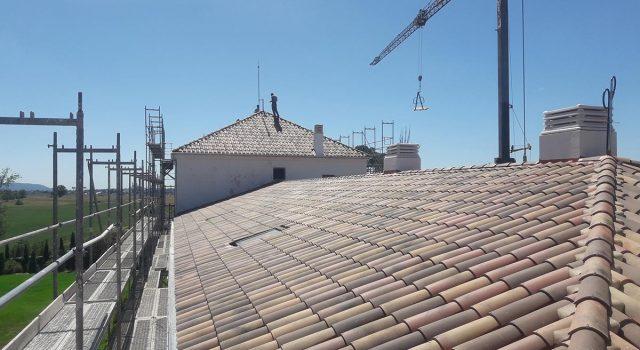Intervención en la cubierta del palacete en Azuqueca de Henares