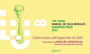 Tesis de Urbanismo. III Premio Europeo Manuel de Solà-Morales