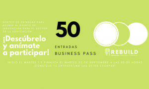 Sorteo de 50 entradas Business Pass para Rebuild 2020. Building the new era